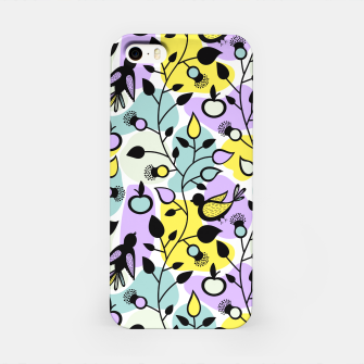 Miniatur Abstract Spring Flowers and Birds Pattern iPhone-Hülle, Live Heroes