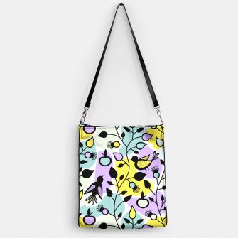 Miniatur Abstract Spring Flowers and Birds Pattern Handtasche, Live Heroes
