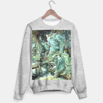 Vintage Rackham Painting - World Of Fairies Sweatshirt regulär Bild der Miniatur
