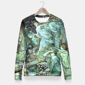 Vintage Rackham Painting - World Of Fairies Taillierte Sweatshirt Bild der Miniatur