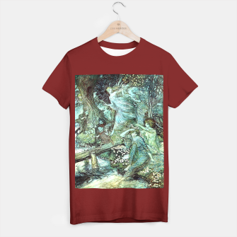 Vintage Rackham Painting - World Of Fairies T-Shirt regulär Bild der Miniatur