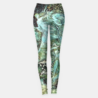 Vintage Rackham Painting - World Of Fairies Leggings Bild der Miniatur