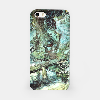 Vintage Rackham Painting - World Of Fairies iPhone-Hülle Bild der Miniatur