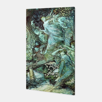 Vintage Rackham Painting - World Of Fairies Canvas Bild der Miniatur