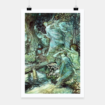 Vintage Rackham Painting - World Of Fairies Plakat Bild der Miniatur
