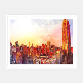 Thumbnail image of Sunshine in NYC Plakaty w ramie , Live Heroes