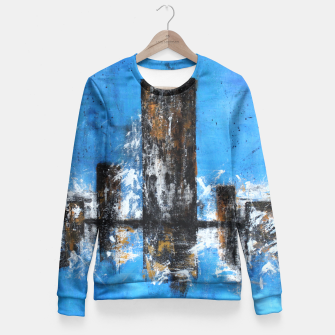 Thumbnail image of Cityscape Fitted Waist Sweater, Live Heroes