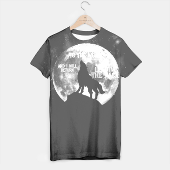 Miniaturka Throw me to the wolves and i will return leading the pack T-shirt, Live Heroes
