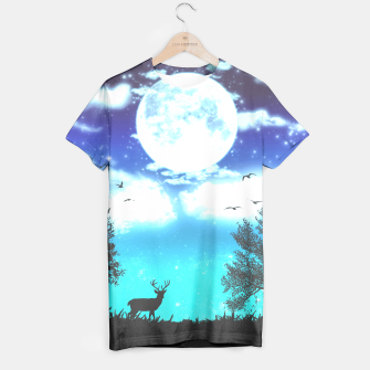Miniaturka Dreamy night into the forest T-shirt, Live Heroes