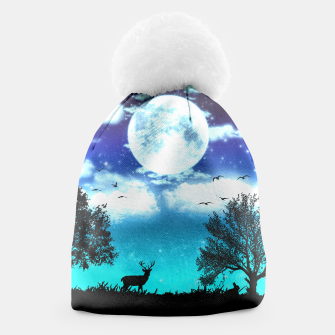Miniaturka Dreamy night into the forest Beanie, Live Heroes