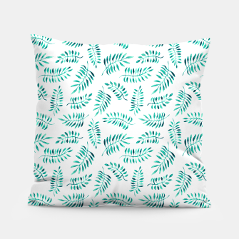 Miniaturka Turquoise leaves Pillow, Live Heroes