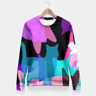 Thumbnail image of Abstract Cat Fitted Waist Sweater, Live Heroes