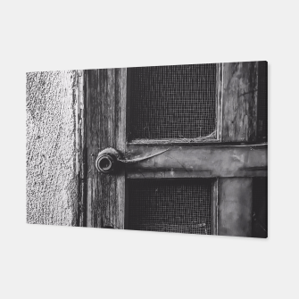 Thumbnail image of old vintage wooden door in black and white Canvas, Live Heroes