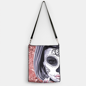 Miniatur Skull Of A Pretty Flowers Lady Pattern Handtasche, Live Heroes
