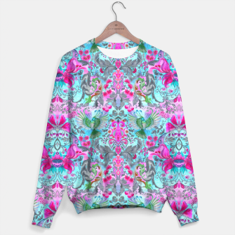 Thumbnail image of Vintage floral turquoise pattern Sweater, Live Heroes