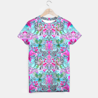 Thumbnail image of Vintage floral turquoise pattern T-shirt, Live Heroes