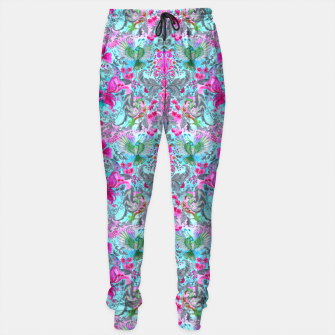 Thumbnail image of Vintage floral turquoise pattern Sweatpants, Live Heroes