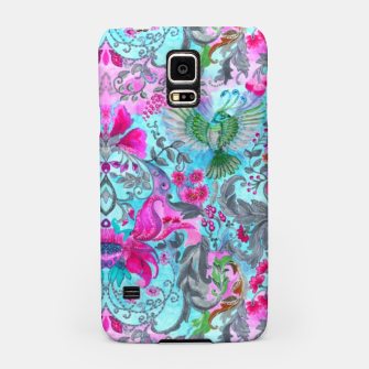 Thumbnail image of Vintage floral turquoise pattern Samsung Case, Live Heroes