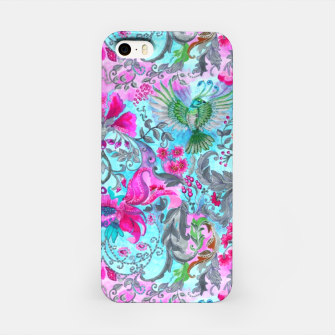 Thumbnail image of Vintage floral turquoise pattern iPhone Case, Live Heroes