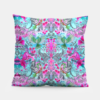 Thumbnail image of Vintage floral turquoise pattern Pillow, Live Heroes