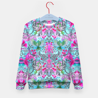 Thumbnail image of Vintage floral turquoise pattern Kid's Sweater, Live Heroes