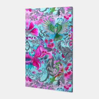 Thumbnail image of Vintage floral turquoise pattern Canvas, Live Heroes