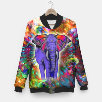 Miniatur Abstract ELEPHANT with Butterfly Ears Colorful Galaxy College-Jacke, Live Heroes