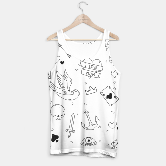 Miniature de image de Pop Culture Art / Old School Tattoo Tank Top, Live Heroes