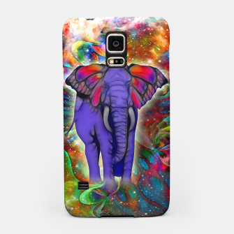 Miniatur Abstract ELEPHANT with Butterfly Ears Colorful Galaxy Handyhülle für Samsung, Live Heroes