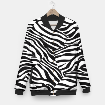 Miniatur Abstract Zebra Stripes Pattern Black White College-Jacke, Live Heroes