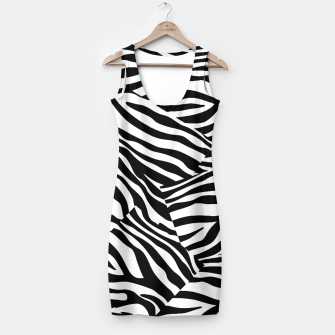 Miniatur Abstract Zebra Stripes Pattern Black White Kleid, Live Heroes
