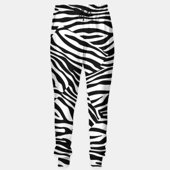 Miniatur Abstract Zebra Stripes Pattern Black White Trainingshose, Live Heroes