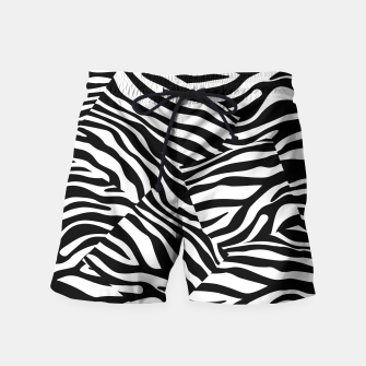 Miniatur Abstract Zebra Stripes Pattern Black White Badeshorts, Live Heroes