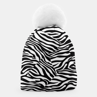 Miniatur Abstract Zebra Stripes Pattern Black White Mütze, Live Heroes