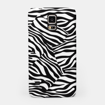 Miniatur Abstract Zebra Stripes Pattern Black White Handyhülle für Samsung, Live Heroes