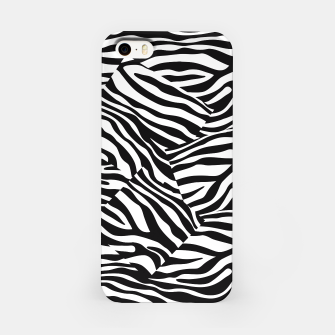 Miniatur Abstract Zebra Stripes Pattern Black White iPhone-Hülle, Live Heroes