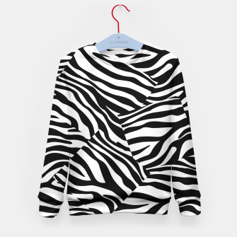 Miniatur Abstract Zebra Stripes Pattern Black White Kindersweatshirt, Live Heroes