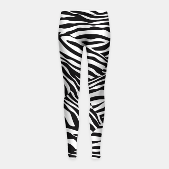 Miniatur Abstract Zebra Stripes Pattern Black White Kinder-Leggins, Live Heroes