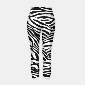 Miniatur Abstract Zebra Stripes Pattern Black White Yogahose, Live Heroes