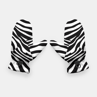 Miniatur Abstract Zebra Stripes Pattern Black White Handschuhe, Live Heroes