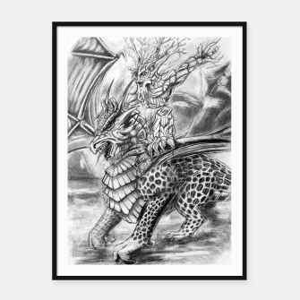 Thumbnail image of Dragon and Ent.. Friend or foes? Framed poster, Live Heroes