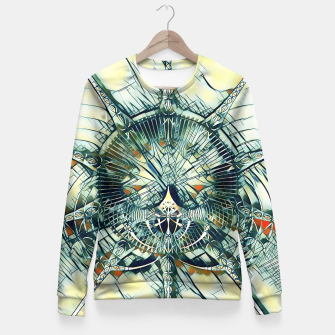 Miniatur Abstract Art Composition I - cyan black red Taillierte Sweatshirt, Live Heroes