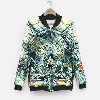 Miniatur Abstract Art Composition I - cyan black red College-Jacke, Live Heroes
