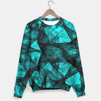 Thumbnail image of Fractal Art Turquoise G52 Sweater, Live Heroes