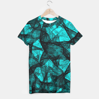 Thumbnail image of Fractal Art Turquoise G52 T-shirt, Live Heroes
