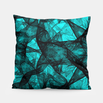 Thumbnail image of Fractal Art Turquoise G52 Pillow, Live Heroes