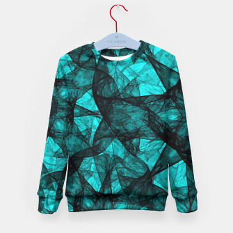Thumbnail image of Fractal Art Turquoise G52 Kid's Sweater, Live Heroes