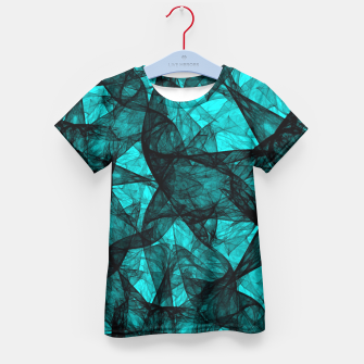 Thumbnail image of Fractal Art Turquoise G52 Kid's T-shirt, Live Heroes