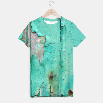Green door T-shirt obraz miniatury