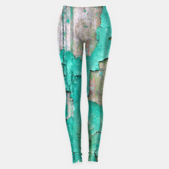 Green door Leggings obraz miniatury